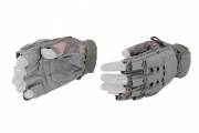 Lancer Tactical Armored Half Finger Gloves (ACU/X-Small)