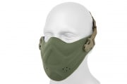 Lancer Tactical Neoprene Hard Foam Lower Face Mask (OD Green)