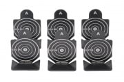 Tac 9 Industries Type A Metal Shooting Targets - 6 Pack (Black)