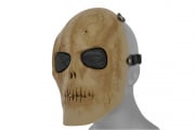 Emerson Mesh Scarred Skull Mask  (DRIED BONE)