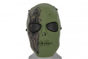 Emerson Mesh Scarred Skull Mask (OD Green)