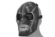 Emerson Mesh Scarred Skull Version 2 Mask (Black/Silver)