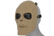 Emerson Mesh Scarred Skull Mask  Version 2 (TAN)