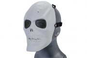 Emerson Mesh Scarred Skull Mask (WHITE)