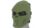 Emerson Villain Skull Mesh Face Mask (OD Green)