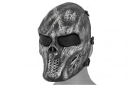 Emerson Villain Skull Mesh Face Mask (Black/Silver)