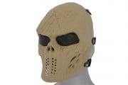 Emerson Villain Skull Mesh Face Mask (Tan)