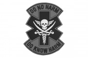 "Emerson ""Do Not Harm""  Pvc Patch (Black/White)"