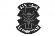 "Emerson ""Do Not Harm""  Pvc Patch (Black/Gray/White)"