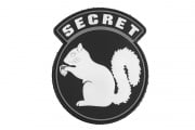 "Emerson ""Secret Squirrel"" PVC Patch (Black/White/Gray)"
