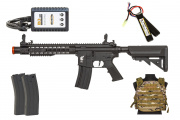 Apex Fast Attack 912 AEG Budget Airsoft Rifle Players Package (Black/Camo)