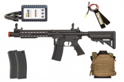 Apex Fast Attack 912 AEG Budget Airsoft Rifle Players Package (Black/Khaki)