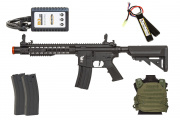 Apex Fast Attack 912 AEG Budget Airsoft Rifle Players Package (Black/OD Green)