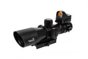 Lancer Tactical 3-9 X 42 Red & Green Illuminated Scope w/ Red Dot Sight