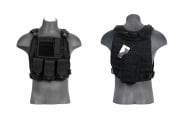 Lancer Tactical Molle Plate Carrier Vest (Black)