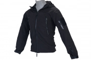 Lancer Tactical Soft Shell Jacket w/ Hood (Black/S)