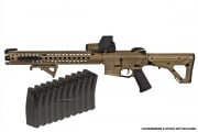 Krytac Licensed War Sport LVOA-C Exclusive Airsoft GI AEG Airsoft Gun (FDE) with 10 Free Mid Cap Mags