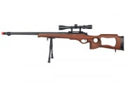 Well MB09 Bolt Action Sniper Airsoft Rifle Scope/Bipod Package (Imitation Wood)