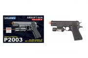 UK Arms P2003 M1911 Spring Pistol Airsoft Gun w/ Laser (Black)