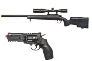 BOGO Classic Army SR40 Bolt Action Spring Airsoft Rifle + Elite Force H8R Co2 Revolver Pistol