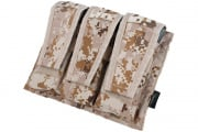 TMC Advanced War Fighter Triple M4 Magazine Pouch (Desert Digital)