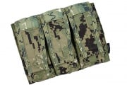 TMC Advanced War Fighter Triple M4 Magazine Pouch (Woodland Digital)