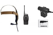 Baofeng BF-888S Radio, Zbowman Elite II Headset, & Z113KEN PTT Set (Black/Coyote)