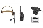 Baofeng BF-888S Radio, ZSELEX TASC1 Headset, & Z113KEN PTT Set (Black/Flat Dark Earth)
