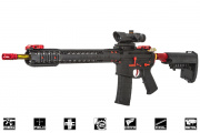 Black Rain Ordnance Limited Edition Fallout 15 3 GUN Force Battle Rifle AEG Airsoft Gun by King Arms (Black/Red/Gold)