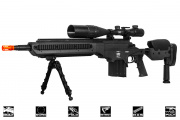 Lancer Tactical LTR338S Spring Sniper Rifle Airssoft Gun (Short/BLK)