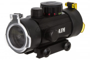 AIM Sports 1x30 Red/Green Dot Sight (4 Reticles & Flip Up Lens Covers)