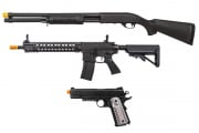 15th Anniversary Classic Army M4 AEG WE 1911 Shot Gun 3 Airsoft Gun Combo Deal #1