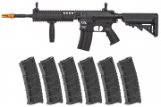 Classic Army Skirmish ECS CA4A1 EC2 AEG Airsoft Rifle w/ VMS 330 rd. Magazine - 6 Pack (Black)
