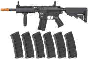Classic Army Skirmish ECS CA4A1 EC1  AEG Airsoft Rifle w/ VMS 330 rd. Magazine - 6 Pack (Black)