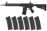 Classic Army Skirmish ECS KM12 AEG Airsoft Rifle w/ VMS 330 rd. Magazine - 6 Pack (Black)
