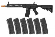 Classic Army Skirmish ECS Delta 12 AEG Airsoft Rifle w/ VMS 330 rd. Magazine - 6 Pack (Black)