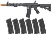 Classic Army Skirmish ECS ML12 M4 M-LOK AEG Airsoft Rifle w/ VMS 330 rd. Magazine - 6 Pack (Black)