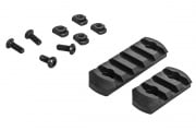 Classic Army M-Lok Polymer Rail Section 2 Pack (Black)