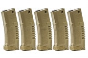 Elite Force Amoeba AM4 Hi Capacity Magazine 5 Pack (Tan)
