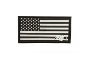 Airsoft GI Flag Patch (Black)