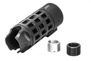 G&P Extended Iron Bars Flash Hider for Tokyo Marui M16 Series 14mm (Black)