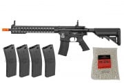"Colt M4 Long 13"" Keymod Carbine AEG Airsoft Gun Reload Combo Pack"