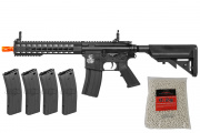 "Colt M4 Short 10"" Keymod Carbine AEG Airsoft Gun Reload Combo Pack"