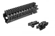 "Madbull Daniel Defense 7"" Lite RAS Handguard w/ Tac 9 Industries Flip-Up Front & Rear Sight - No Retail Package (Black)"