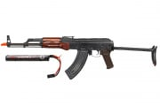 Spartan Delta E&L AKMS Rifle AEG Airsoft Gun w/ 7.4 Lipo Battery Combo Pack ( Wood )