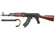 Spartan Delta E&L AKM Rifle AEG Airsoft Gun w/ 7.4 Lipo Battery Combo Pack (Wood)