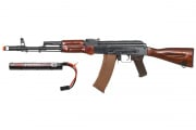 Spartan Delta E&L AK-74N Rifle AEG Airsoft Gun w/ 7.4 Lipo Battery Combo Pack (Wood)