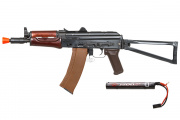 Spartan Delta Series E&L Full Metal AEG AKS-74UN Airsoft Gun w/ 7.4 Lipo Battery Package ( Wood )