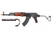 Spartan Delta E&L AK47 AIR MOD A Rifle AEG Airsoft Gun w/ 7.4 Lipo Battery Combo Pack (Wood)