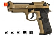 SRC M9 Semi Auto Gas Blowback CO2 Pistol Airsoft Gun ( Tan )
